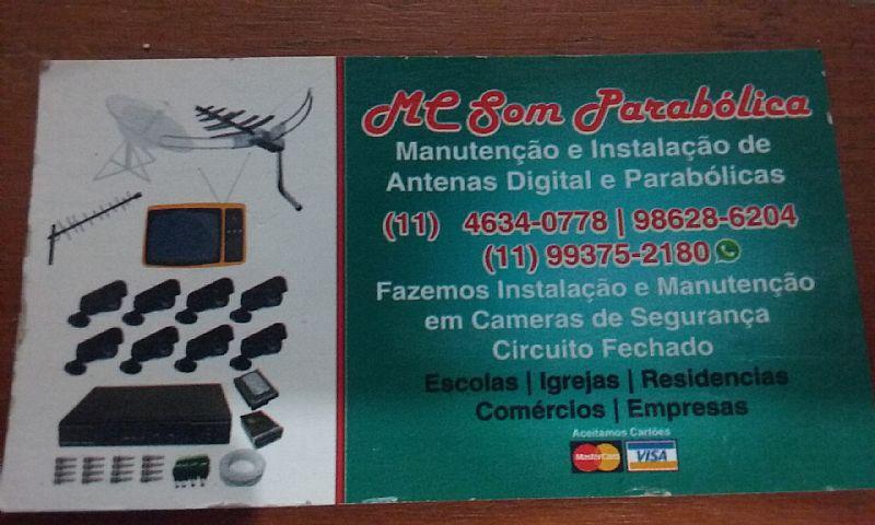 Manutencao e instalacao de antenas digital e parabolicas